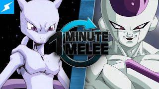 One Minute Melee - Mewtwo vs Frieza (Pokemon vs Dragon Ball Z)