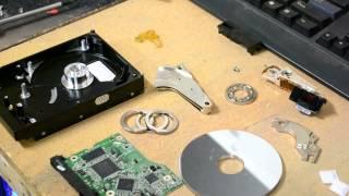 Hard drive teardown and walkthrough