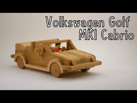 How To Make a Wooden Toy Volkswagen Golf MK1 Cabriolet   Wooden Miniature  - Wooden Creations