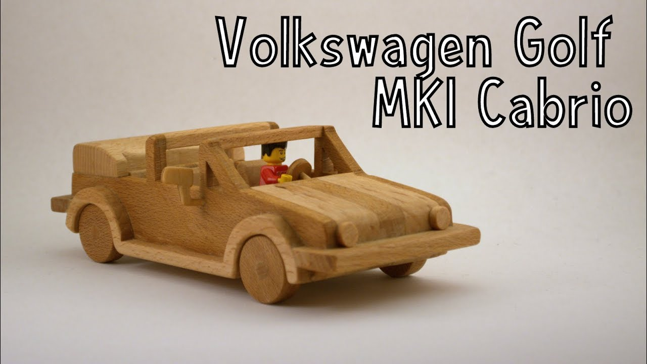 how to make a wooden toy volkswagen golf mk1 cabriolet | wooden miniature -  wooden creations