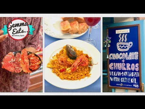 Gemma Eats...Barcelona Secret Food Tour | BEST Paella, Tapas, Jamon & More Spanish Food!