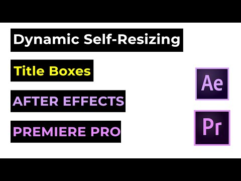 After Effects & Premiere Pro Tutorial - Self-Resizing Text Box Animation