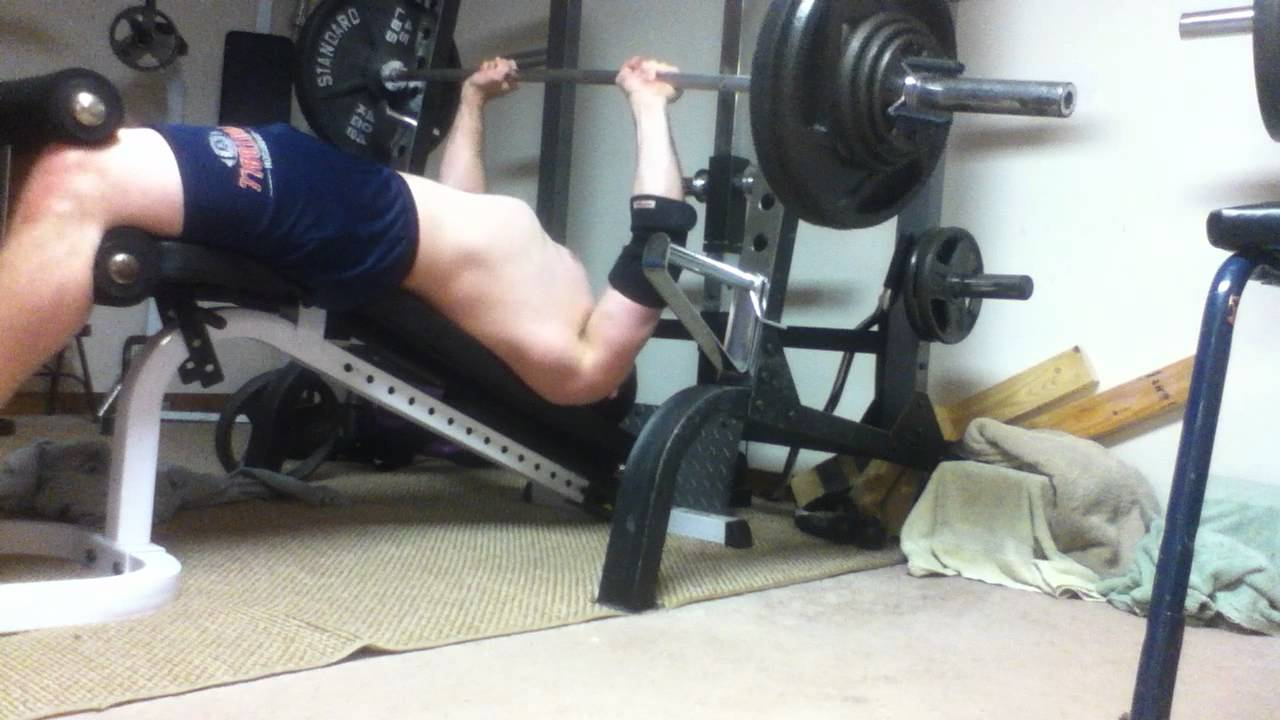 260x8 close grip decline bench press - YouTube