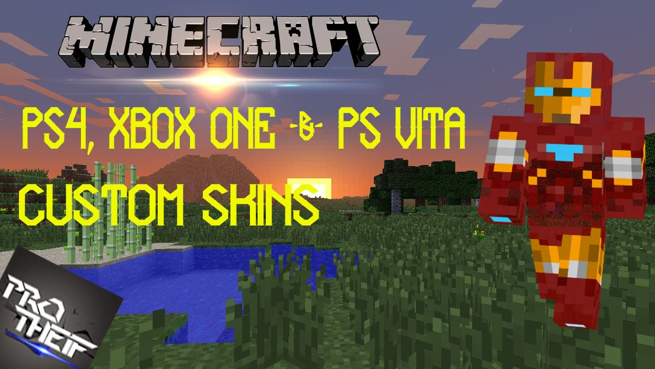 Minecraft- PS4, Xbox One & PS vita - Custom Skins - YouTube Xbox One Skins Minecraft