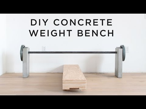 DIY Concrete Weight Bench