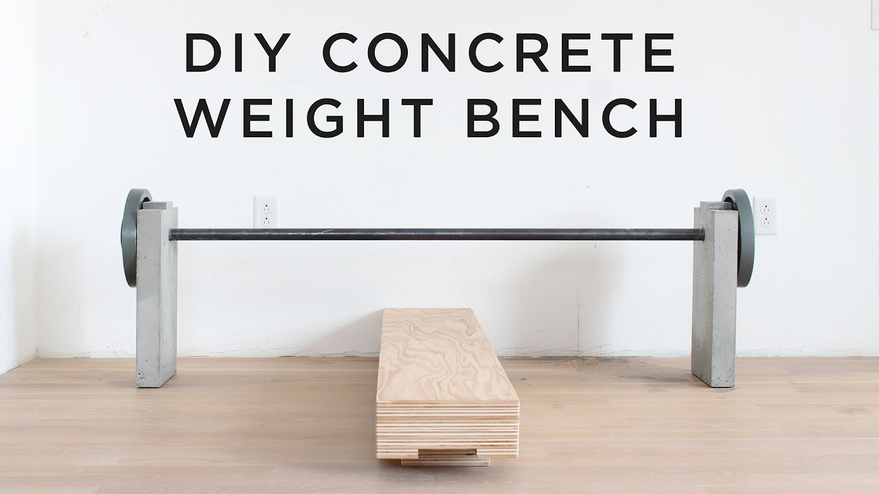 Diy Concrete Weight Bench Youtube