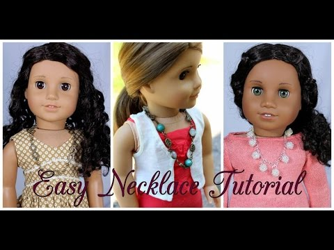 Easy Necklace Tutorial for American Girl Dolls