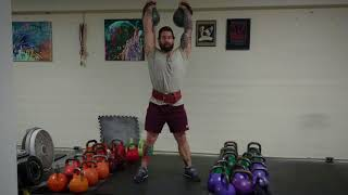 Shoulder Stability Timed Holds with Kettlebell Jerks