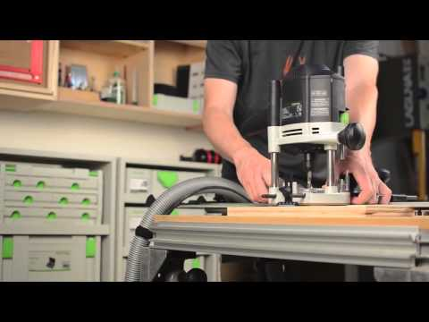 Festool Rail Guided Routing Overview For OF1400 Using 492601 Guide Rail Adaptor