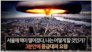 서울에 핵이 떨어졌다. 나는 어떻게 해야 되지? 3분안에 응급대피 요령
