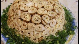 Салат Розы для любимого. Рецепты закусок на праздничный стол.