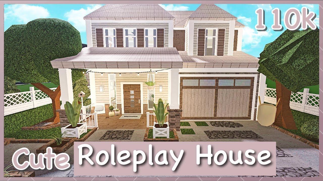 Bloxburg Cute Roleplay House Speed Build Youtube