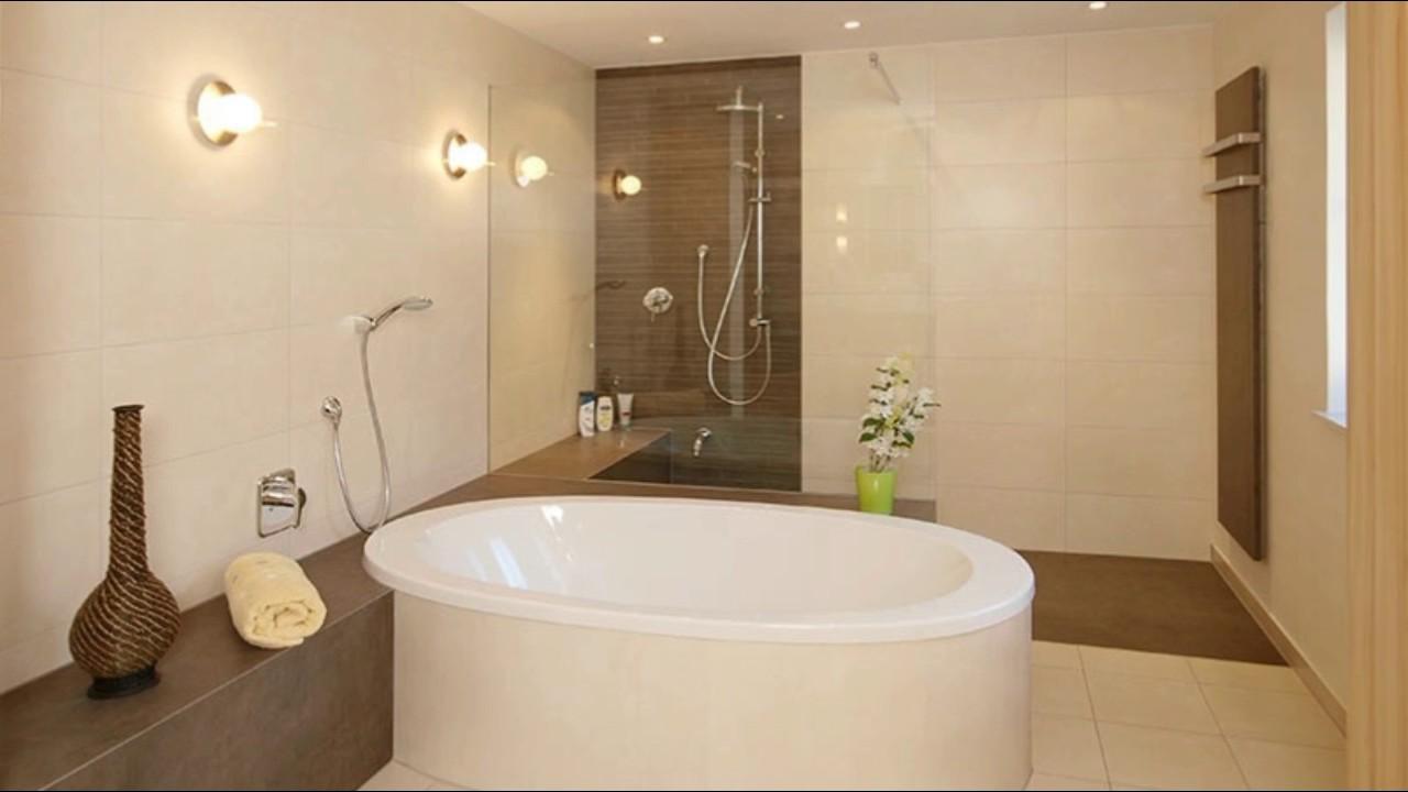 Badezimmer modern beige grau midir innen  badezimmer braun beige  YouTube