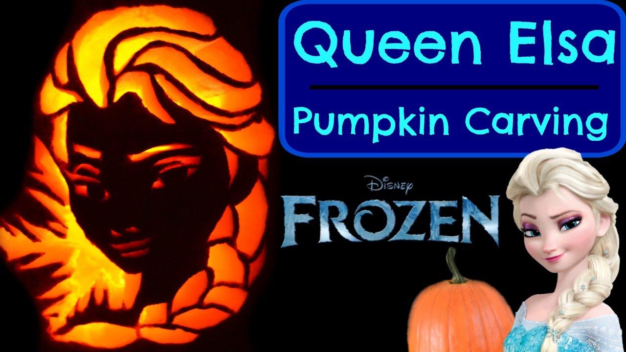 Pumpkin Carving Queen Elsa Disney Frozen Princess Pumpkin Carving ...
