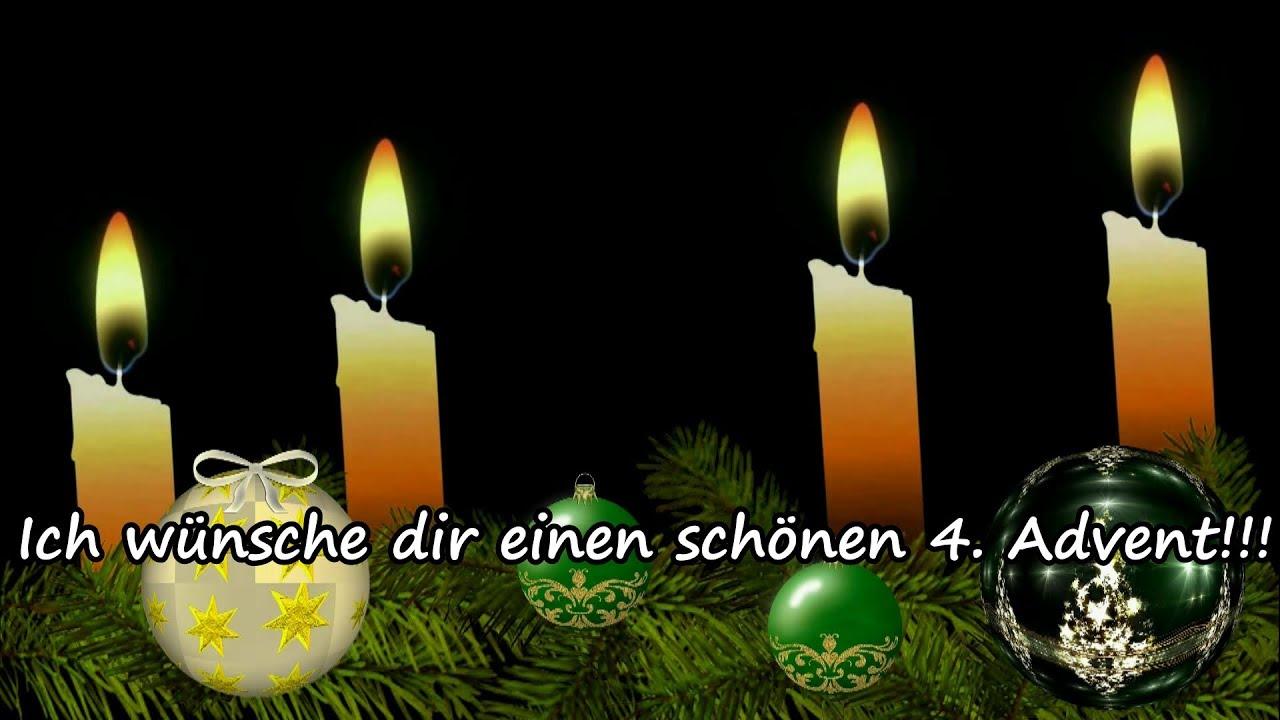 Adventsgrüße - Liebe Grüße zum 4. Advent / Kleiner Gruß ...