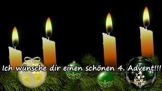 Adventsgrüße - Liebe Grüße zum 4. Advent / Kleiner Gruß zum Vierten Advent für dich !