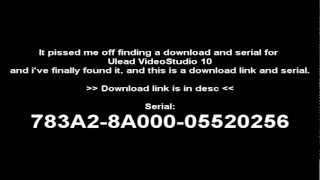 Ulead VideoStudio 10 Working Download+Serial 2013
