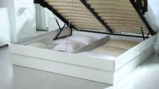 Palermo   White Platform Bedroom Set With Storage