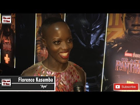 Florence Kasumba discusses waiting to play a strong female character at Black Panther European premi