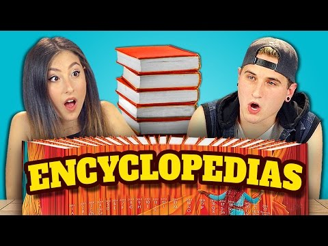 TEENS REACT TO ENCYCLOPEDIAS