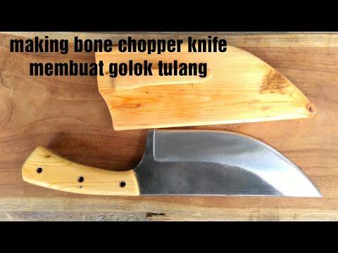 membuat pisau cacah tulang/ making bone chopper knife