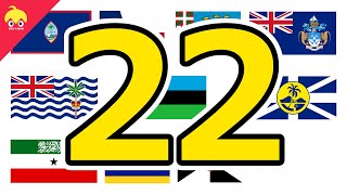 ピタゴラ国旗22【世界の国や地域の旗】