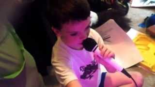 My oldest trying to sing Jason Aldean but bro is crazy