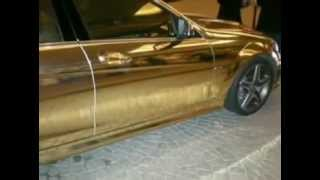 Golden Car - Mercedes AMG Dubai