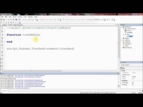 Roblox Lua Arguments Roblox Lua Tutorials 13 Event Arguments Youtube