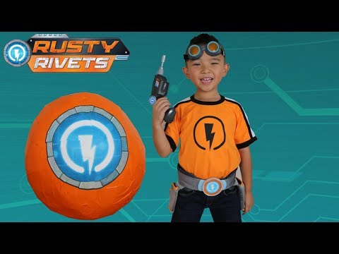 BIGGEST Rusty Rivets Toys Surprise Egg Opening Rescue Mission Fun With Ckn Toys