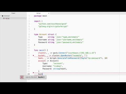 Hashing Password Data in Couchbase with Golang and BCrypt - Video