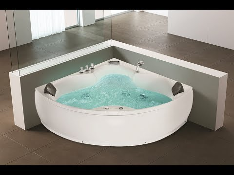 whirlpool eck badewanne monaco eckwanne mit 12 massage d sen led spa f r nur 899 g nstig youtube. Black Bedroom Furniture Sets. Home Design Ideas