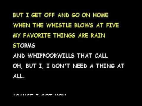 I don't need no things at all- Gene Watson [Karaoke]