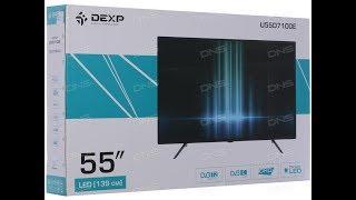 55 (139 см) Телевизор LED DEXP U55D7100E черный