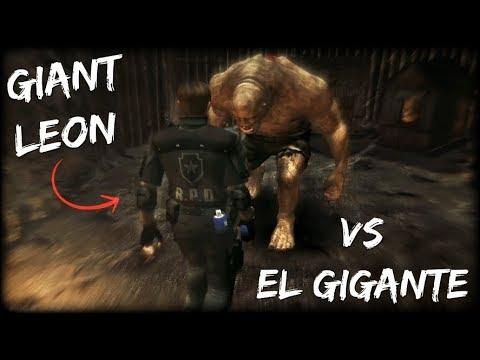 GIANT LEON vs EL GIGANTE | Resident Evil 4 UHD
