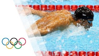 Michael Phelps wins 15th Gold - Men's 100m Butterfly London 2012 Olympic Games