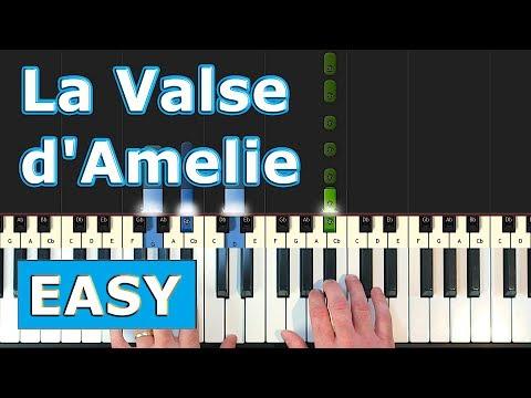La Valse Damelie Piano Tutorial Easy Youtube