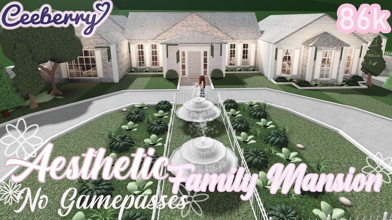 Bloxburg Aesthetic Family Mansion No Gamepasses 86k Speed