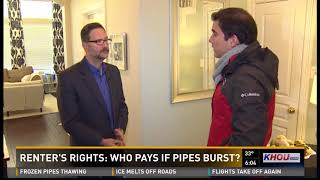 Who pays if pipes burst?