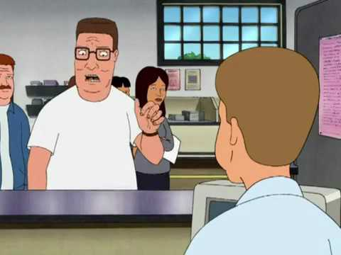 Dale Gribble with Hank at the DMV - King of the Hill