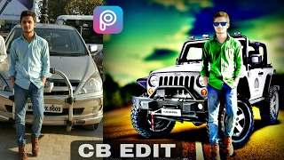 Picsart tutorial ! Cb edit change background with Shadow new edit 2017 step by step