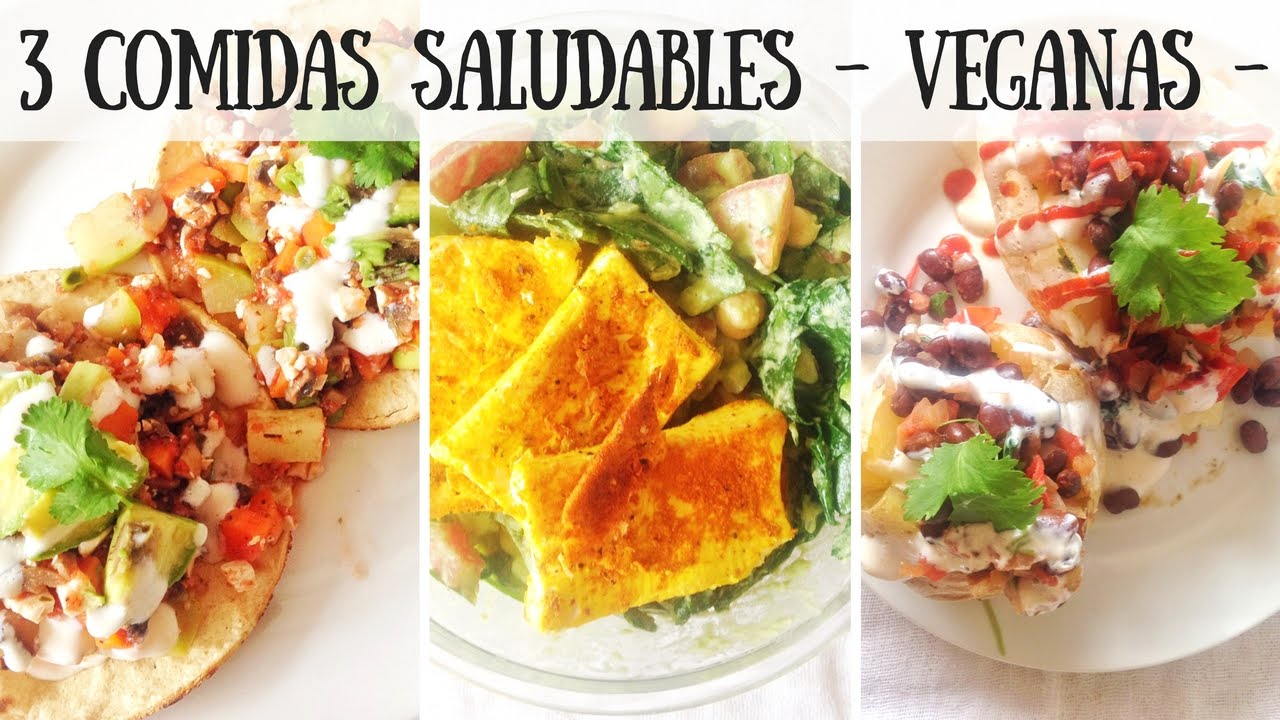 3 COMIDAS SALUDABLES VEGANAS  VIDA VEGANA  YouTube