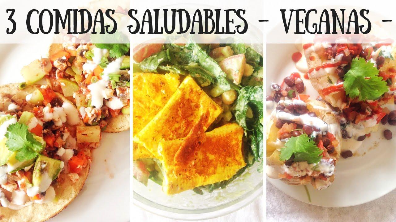3 comidas saludables veganas vida vegana youtube for Comidas de verano saludables