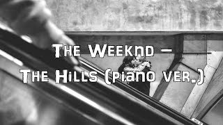 The Weeknd - The Hills [Piano Cover.Lyrics.Karaoke]