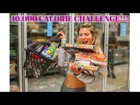THE 10,000 CALORIE CHALLENGE | Girl Vs Food!! | The most EPIC cheat day EVER!
