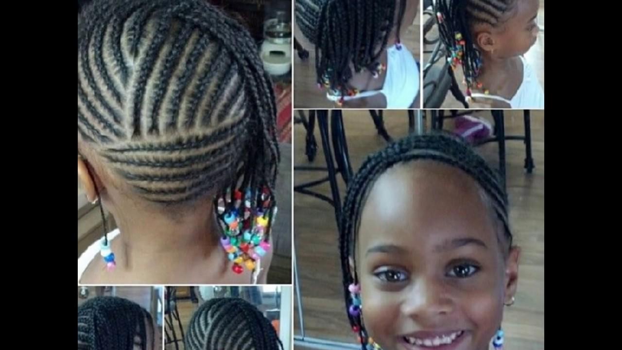 Kids Cornrows Hairstyles Black Natural Children Hairstyles Youtube