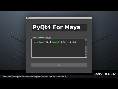 PyQt4 UI Development for Maya - YouTube