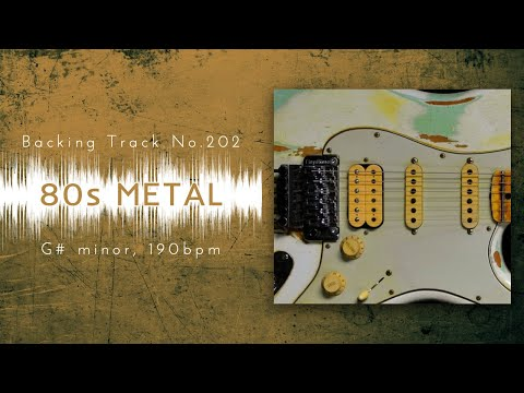 80s Fast Hard RockHeavy Metal Backing Track in Gm  BT-202