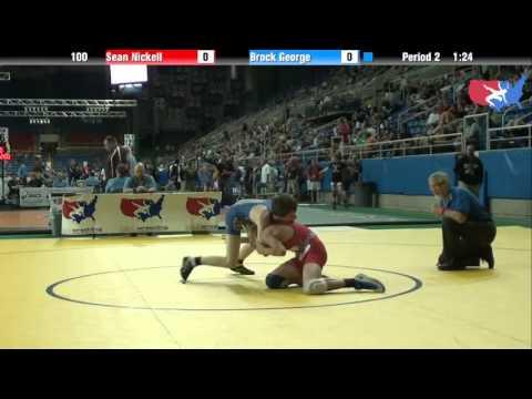 Fargo 2012 100 Round 1: Sean Nickell (California) vs. Brock George (Utah) streaming vf