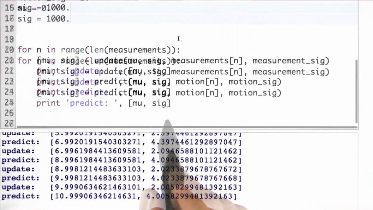 Kalman Filter Code Solution - Artificial Intelligence for Robotics